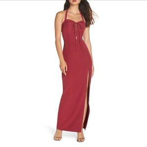 NWT WAYF Sydney Convertible Halter Dress Sz Large